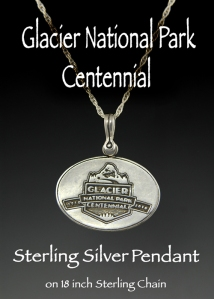 Glacier National Park Centennial Pendant in Sterling Silver